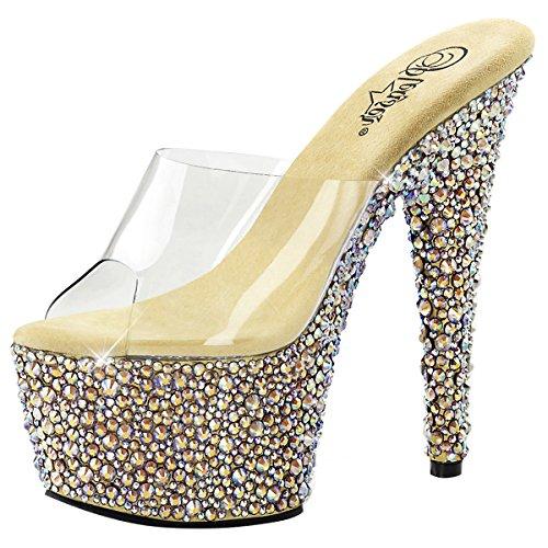 Heels-Perfect - Zuecos de Material Sintético para mujer Gold (Gold)