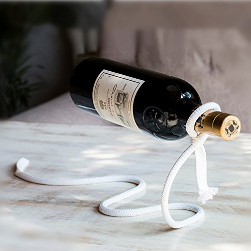 Highland Farms Select Magic Wine Bottle Rope Lasso Holder - Holds Bottles Floating in The Air ()