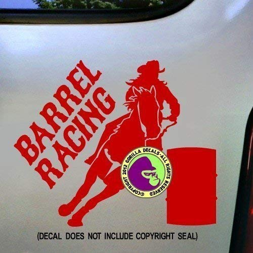 BARREL RACING Rodeo Racer Horse Rider Vinyl Decal Sticker A
