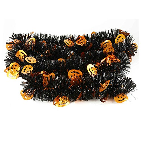 Elegant hanging tinsel garland halloween themed feet