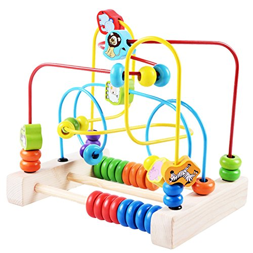 iPuzzle Wooden Educational Toy Animal Rolling Maze Toy Gift for Kids