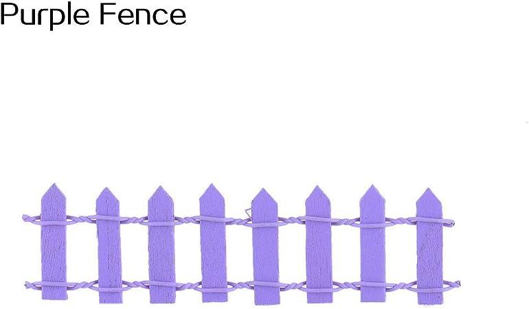 Ogquaton Mini jardín de Hadas Miniatura casa Valla artesanía Bricolaje Micro Paisaje decoración Regalo púrpura Valla Mejor opción: Amazon.es: Hogar