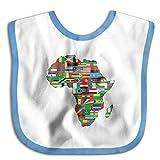 Africa Flags Map Bibs Baby Bib
