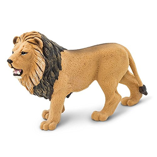 (Safari Ltd. Wildlife - Lion - Realistic Hand Painted Toy Figurine Model - Quality Construction from Phthalate, Lead and BPA Free Materials - For Ages 3 and Up)