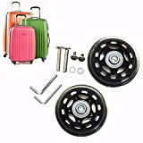 Replacement Luggage Wheels 67x20mm Rubber Suitcase Trolley Wheels Axles Deluxe Repair OD 67mm Repair Travel Trolley Case Wheels