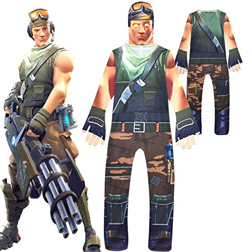 Fortnite Halloween Skin Costume - Victory Royal Soldier (S - 120 cm (Youth)) -