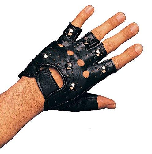 [R1484 Single Studded Glove Right Hand] (Punk Rocker Costume Accessories)