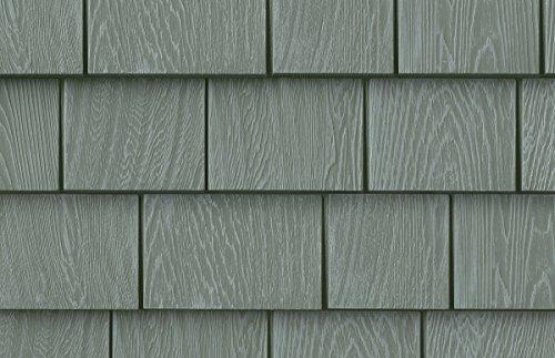 Hampton Ridge Vinyl (Grayne 6-1/2 in. x 60-1/2 in. Ridge Moss Engineered Rigid PVC Shingle Panel 5 in. Exposure (24 per Box))