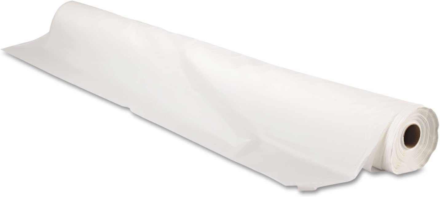 Tablemate BIO1403WH Bio-Degradable Plastic Table Cover, 40 x 300ft, White