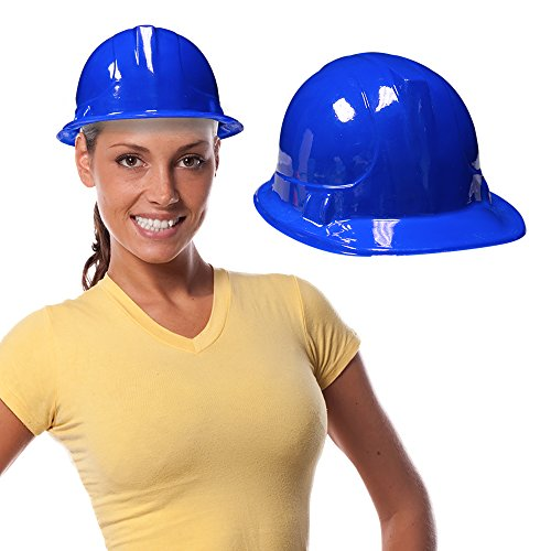 Plastic Hard Hats For Kids (Blue Kids Party Construction Hats (12 Pack))