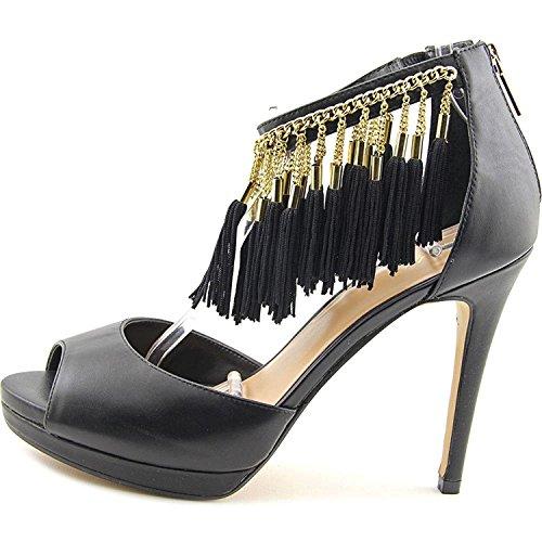 Thalia Sodi Womens Lendra Leather Open Toe Ankle Wrap D-Orsay Pumps Black WVTHIXycI