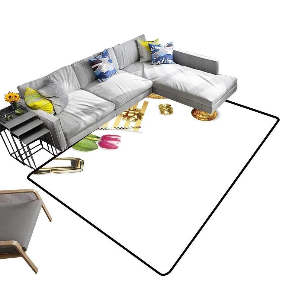 color04 22 x 60 inch alsohome Silky Smooth Bedroom Mats Tuna Fish Tuna Fish Emblem Eye Tuna Yellow fin Tuna Waterproof and Easy Clean 5' X 7'
