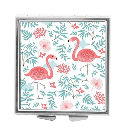 (Katrina Pill Box Pill Holder Pill Case Medicine Holder Mint Tin Vitamin Holder Container Pocket or Purse (Pink Flamingo))