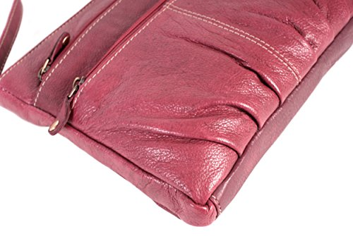 Oxbridge Satchel Shop , Damen Rucksackhandtasche rot S