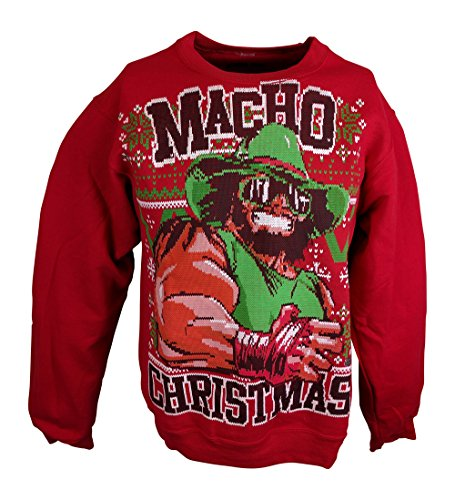 Macho Man Randy Savage WWE Ugly Christmas Mens Sweater Sweatshirt