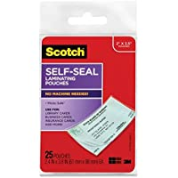Scotch Self-Sealing Laminating Pouches, 25-Pack (LS851G), Business Card Size, 4-PACK