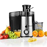 Juicer Juice Extractor High Speed for Fruit and Vegetables Dual Speed Setting Centrifugal Fruit Machine Powerful 400 Watt with Juice Jug, Premium Food Grade Stainless Steel