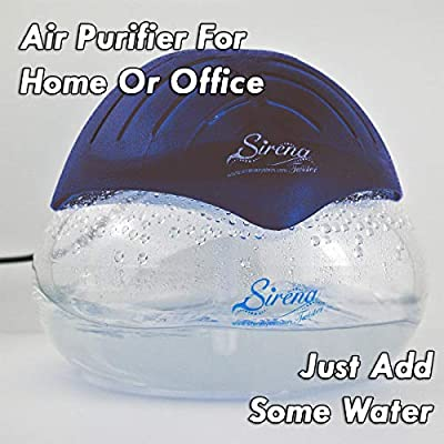 Sirena Twister Air Purifier - Water Air Purifiers for Home - Air Cleaner and Deodorizer with LED Light - Air Sanitizer for Smoke, Allergies and Pets - Dust Remover for Bedroom and Office: Home & Kitchen