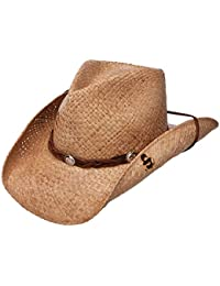b79adf29e5c Amazon.com  Beige - Cowboy Hats   Hats   Caps  Clothing