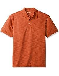 Haggar Men's Short Sleeve Space Dye Knit Polo