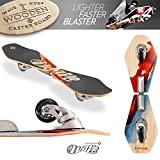 Street Surfing 2-wheeled Wave Board Rider Abstrakt with Wooden Deck. Skateboards with direction-caster for Adults and Kids ages 6+. Caster Boards for men and women. Old School design. Skate with style