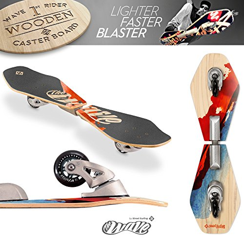Street Surfing 2-Wheeled Wave Board Rider Wooden Deck. Lightweight Skateboards with Direction Caster...