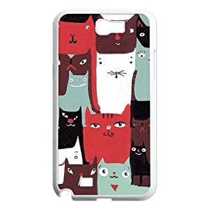Cats New Fashion DIY Phone Case for Samsung Galaxy Note 2 N7100,customized cover case ygtg-763060