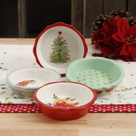 The Pioneer Woman Holiday Mini Pie Plates Set of 4 & Amazon.com: The Pioneer Woman Holiday Mini Pie Plates Set of 4 ...