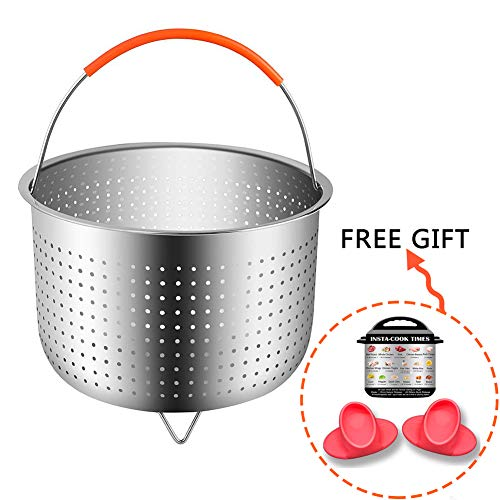 Steamer Basket For Instant Pot Accessories 6 or 8 qt-Instant Pot 304 Stainless Steel Steamer (4PACK)-Vegetable Steamer Insert With Silicone Handle -Instant Pot Magnets,Silicone Insulated Gloves