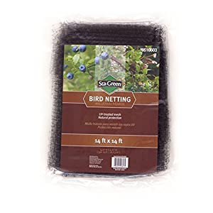 S-G Reusable Bird Netting Black Polypropylene Hardware Cloth Rolled Fencing Protects Plants, Trees and Shrubs from Birds 14-ft x 14-ft