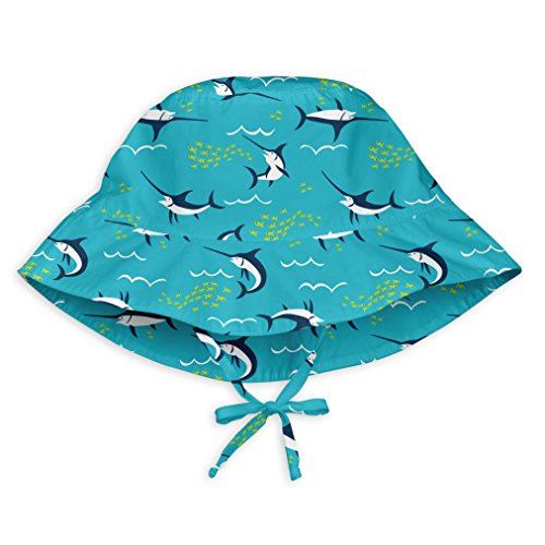 i play. Baby Boys Bucket Sun Protection Hat, Aqua Swordfish, 9/18mo Aqua Bucket Hat