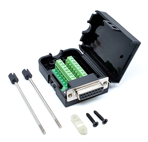 Price comparison product image Oiyagai DB15 Female 15Pin Connector Adaptor Screw Terminal Breakout Board Free Welding
