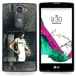"""Dallas 41 Baloncesto"""" - Metal de aluminio y de plástico duro Caja del teléfono - Negro - LG Magna / G4C / H525N H522Y H520N H502F H500F (G4 MINI,NOT FOR LG G4)"""