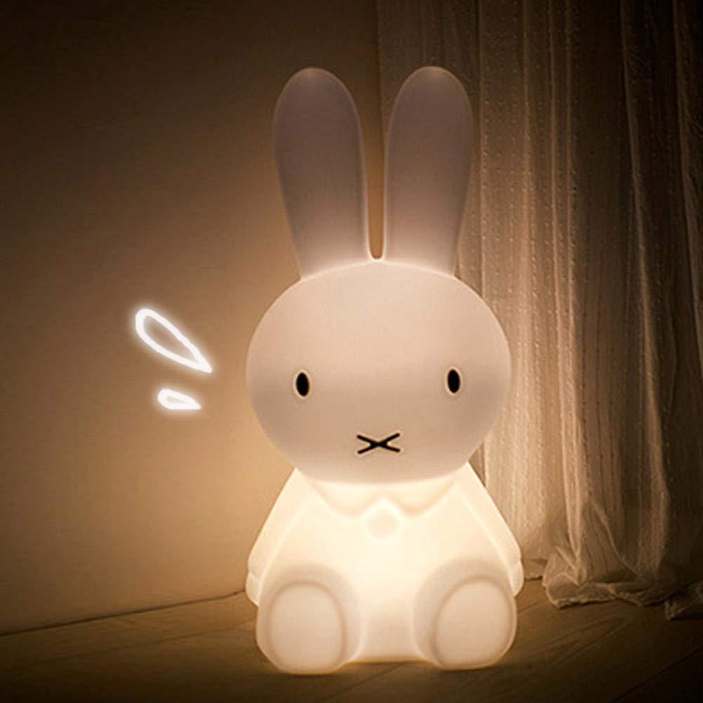 Chic Rabbit LED Night Light,Animal Decorative Lamp Nursery Sleeping Light Table Lamp Christmas Gift for Kids Baby Girl Boy (Rabbit)