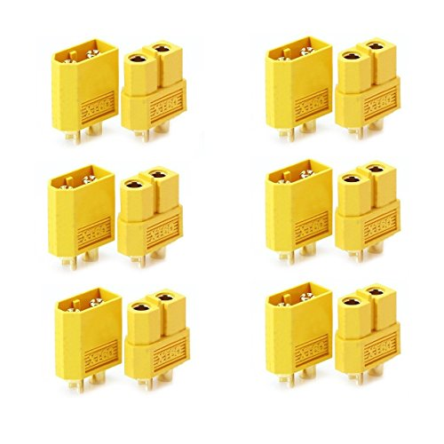 YXQ 6/10/12/30 Pairs 10XT-60 XT60 Male Female Bullet Connectors Plugs For RC Lipo Battery (6 pairs)