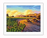Pacifica Island Art - Vineyard Sunset - Wine Country Art by Kerne Erickson - Fine Art Rolled Canvas Print - 20in x 26in