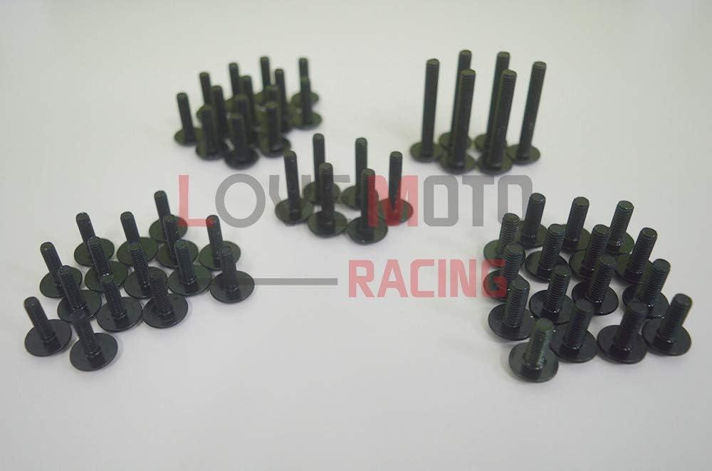 LoveMoto Juegos completos de Tornillos y Tuercas de carenado para CBR 1000 RR 04 05 CBR 1000 RR 2004 2005 Clips de fijaci/ón y Tornillos de Aluminio Negro Plata