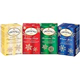 Twinings of London Holiday Variety Tea Bag Pack, Peppermint Cheer, Holiday Berry, Christmas Tea, Winter Spice, 20 Count