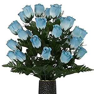 Light Blue Roses, featuring the Stay-In-The-Vase Design(C) Flower Holder (MD1000) 84
