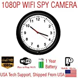 Cheap SecureGuard 720p HD WiFi Wireless IP Wall Clock Hidden Security Nanny Cam Spy Camera with 16GB Memory