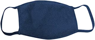 product image for Bayside Face Mask (3 Pack)- Made in USA- 3 Ply Cloth Mask- Washable & Reusable- 18 Colors (Heather Navy)