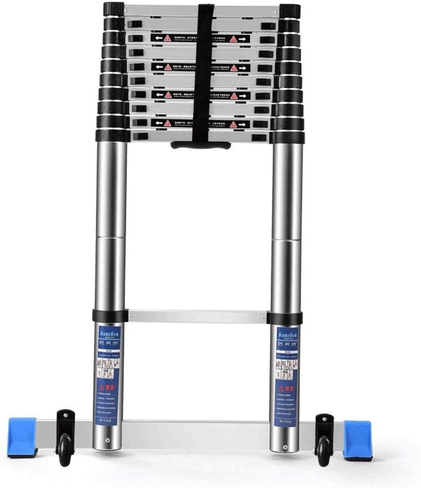 Escalera Plegable - Extensión Extensible De Aluminio Escalera Trapezoidal Plegable, Carga 330 Libras, En Línea con Las Normas En131 Y CE,3.2M: Amazon.es: Jardín