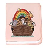 CafePress - Noah's Ark And Rainbow - Baby Blanket, Super Soft Newborn Swaddle