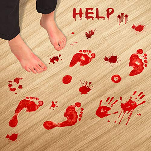 Scary Bloody Decals Stickers for Halloween Decoration 8Pcs