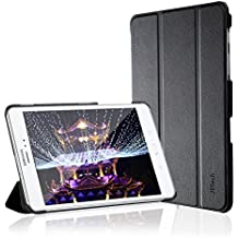JETech Case for Samsung Galaxy Tab A 8.0 inch (2015 Model) Tablet, Smart Cover with Auto Sleep/Wake Feature (Black)