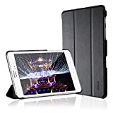 Galaxy Tab A 8.0 Case, JETech Gold Slim-Fit Smart Case Cover for Samsung Galaxy Tab A 8.0 inch Tablet with Auto Sleep/Wake Feature (Black) - 3230