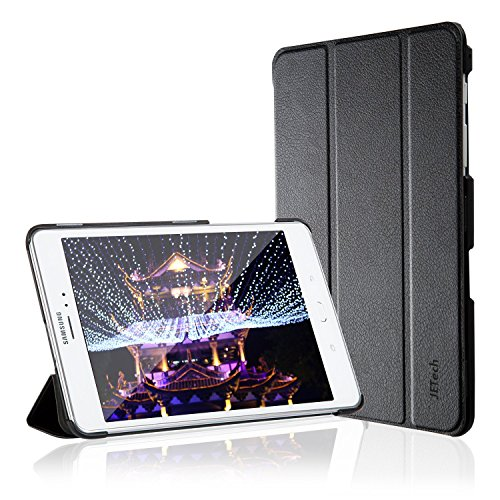 Galaxy Tab A 8.0 Case, JETech Slim-Fit Case Cover for Samsung Galaxy Tab A 8.0 inch 2015 Tablet with Auto Sleep/Wake Feature (Black) (Galaxy Tab Samsung Case)