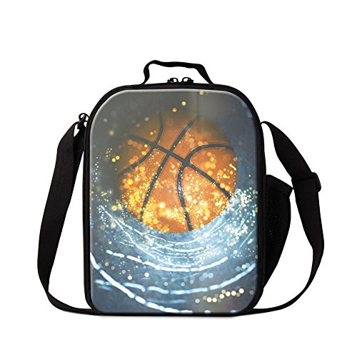 Dispalang Basketball School Lunch Bag for Boys Cool Thermal Lunch Container Insulated Cooler -