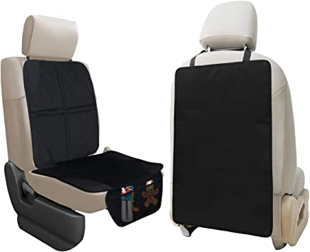 Waterproof Back Seat Kick Guard Seat Saver To Protect Your Leather And Upholstery Seat From Damage Durable Seat Liner /& Cover X-Large Kick Mat Auto Seat Back Protector Lebogner Car Seat Protector