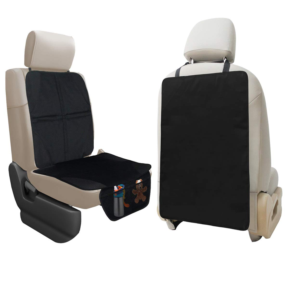 Lebogner Car Seat Protector + X-Large Kick Mat Auto Seat Back Protector, Durable Seat Liner & Cover + Waterproof Back Seat Kick Guard Seat Saver To Protect Your Leather And Upholstery Seat From Damage by lebogner
